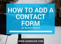 add contact form in WordPress