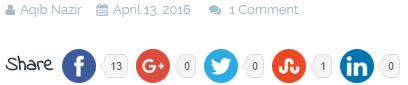 social sharing buttons wordpress