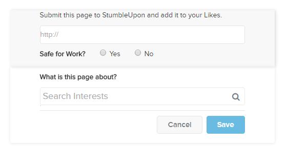 add a page stumbleupon