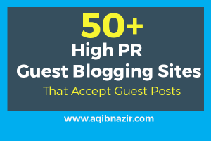 list of high PR guest blogging sites