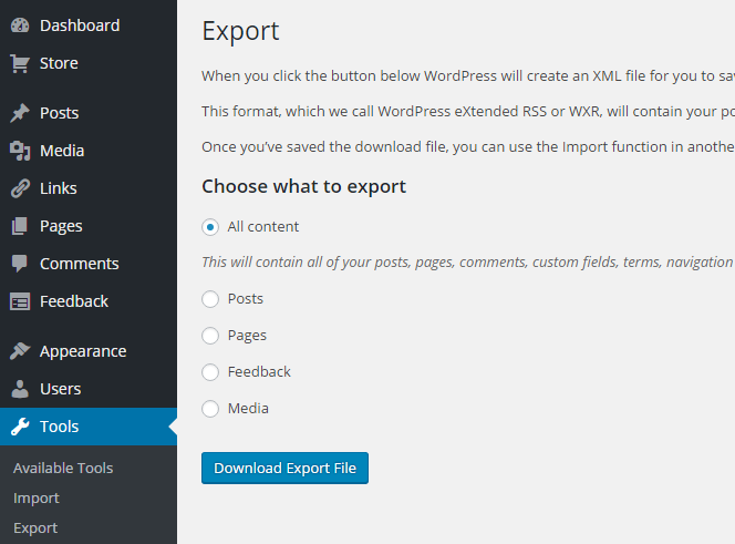Download Export File