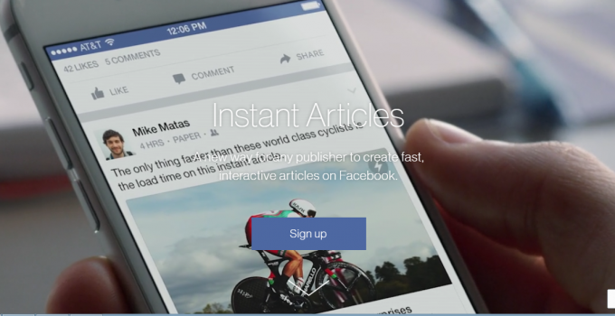 setup facebook instant articles
