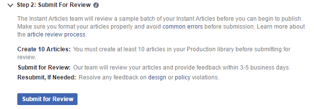 Submit for Review Enabled Button