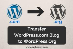 Transfer from Wordpress.com to WordPress.Org Cover