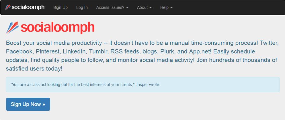 socialoomph social media management tool