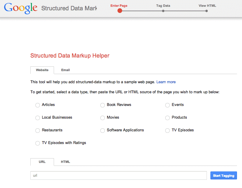 Google Structured Markup