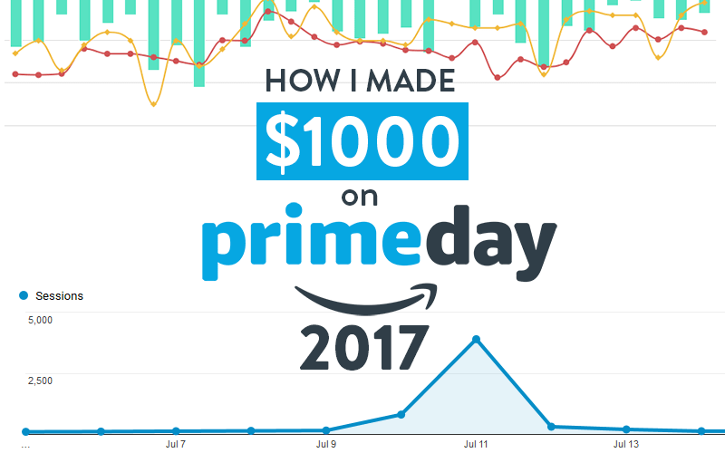 how i made 1000 in commissions on amazon prime day 2017. Black Bedroom Furniture Sets. Home Design Ideas